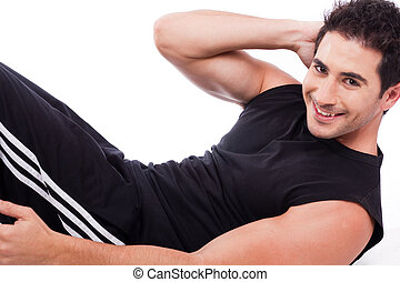Man doing Abdomen exercise