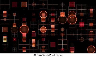 Red digital equalizer - Abstract Red digital equalizer on...