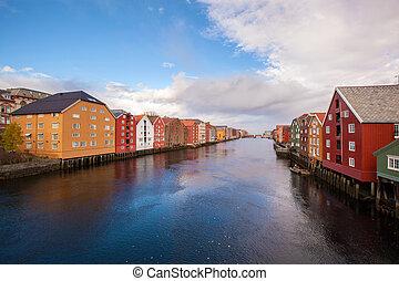 Trondheim cityscape Norway
