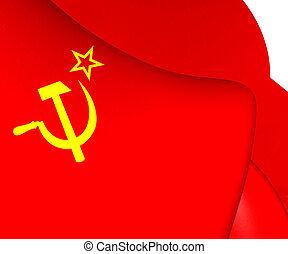 union, drapeau, soviétique