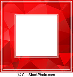 red border - Monochrome polygonal border with light and dark...