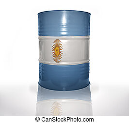 barrel with argentinean flag