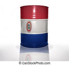 barrel with paraguayan flag