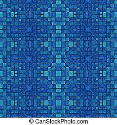 mosaic blue tonality pattern