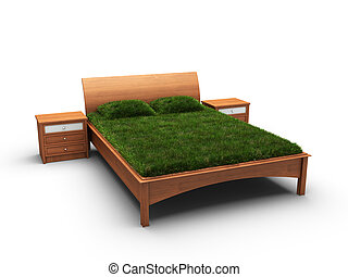 bed designed as an herbal made in 3D