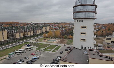 modern building, aerial view - modern building aerial view,...