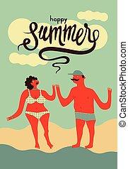 Summer retro grunge poster.