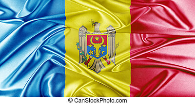 Moldova Flag - Moldova Flag. Flag with a beautiful glossy...