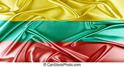 Lithuania Flag - Lithuania Flag. Flag with a beautiful...