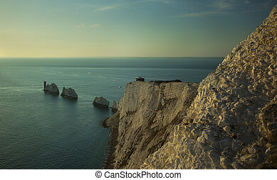 Isle Of Wight Needles - A view of the Needles off the...