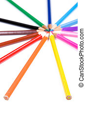 crayon - colorful crayon on white background