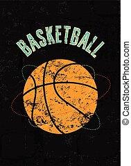 Basketball vintage grunge poster. - Basketball vintage...