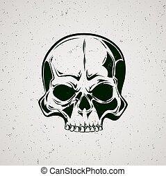 Skull grunge.