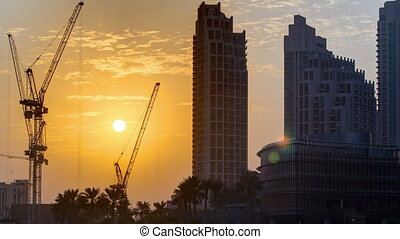 Sunset near Burj Khalifa Dubai - Sunset near Burj Khalifa...