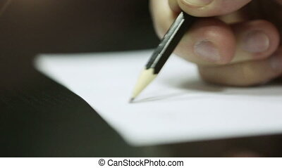 Hand Writing on a Piece of Paper DOF HD 1080