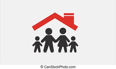 Family icons, animation - Family at home, Video animation,...