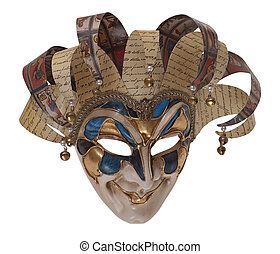 Harlequin mask - Italian traditional mask of Harlequin...