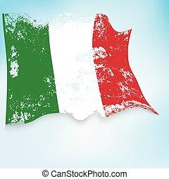 Italy grunge flag