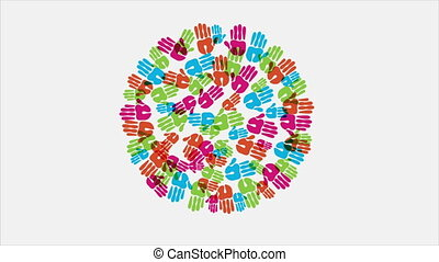 hands colorful, Video animation - Colors hands, Video...
