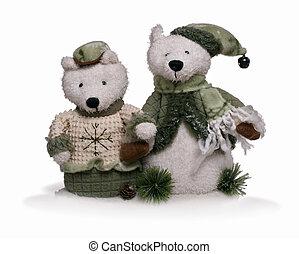 suave, teddy, oso, pareja
