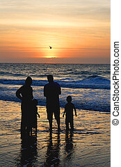 Family at the Ocean