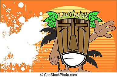 tiki hawaiian mask cartoon summer15 - tiki hawaiian mask...