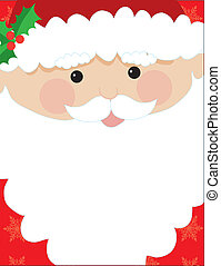 Santa Head Frame - Santa\'s head with his beard to be used...