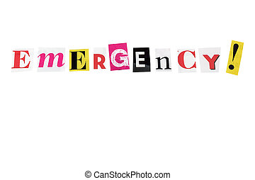 emergency - emergency written with daily letters