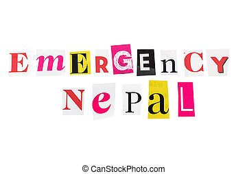 emergency nepal written with daily letters