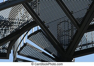 Metal construction background - Construction background for...