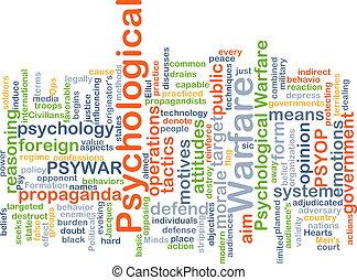 Psicologico, concetto, guerra, fondo
