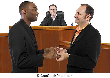 Judge Supporting Gay Marriage - composite of a judge...