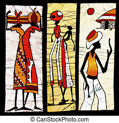 african art painted on textiles, this days is just mass...