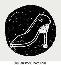 High-heeled shoes doodle