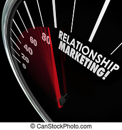 Relationship Marketing Speedometer Increase Customer Loyalty