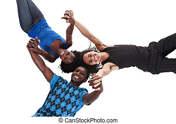 gender and racial unity - group of young people of diverse...