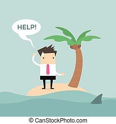 Businessman need help on the island