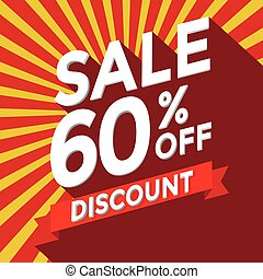 Sale 60% off discount