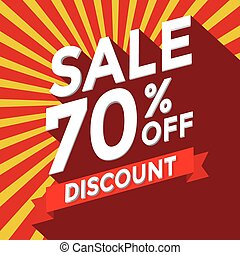 Sale 70% off discount vector