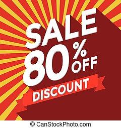 Sale 80% off discount