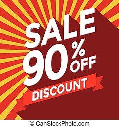 Sale 90% off discount vector