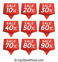 Sale percent sticker price tag