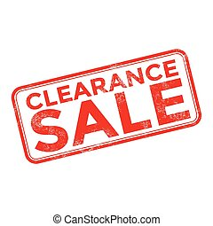 Clearance sale grunge rubber stamp