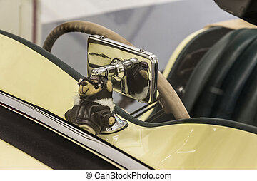 Vintage car - the splendor of the beautiful chrome of...