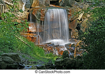 Water fall in Georgsmarienhuette, Germany - Water fall in...
