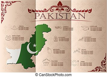 pakistan infographics, statistical data, sights Vector...