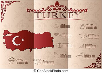 Turkey infographics, statistical data, sights Vector...