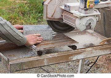 sawed stones
