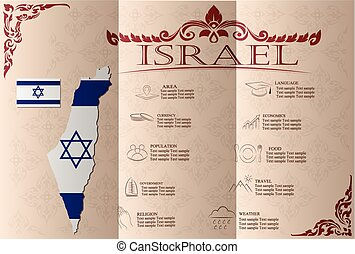 Israel infographics, statistical data, sights Vector...