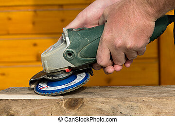 Grinding with angle grinder